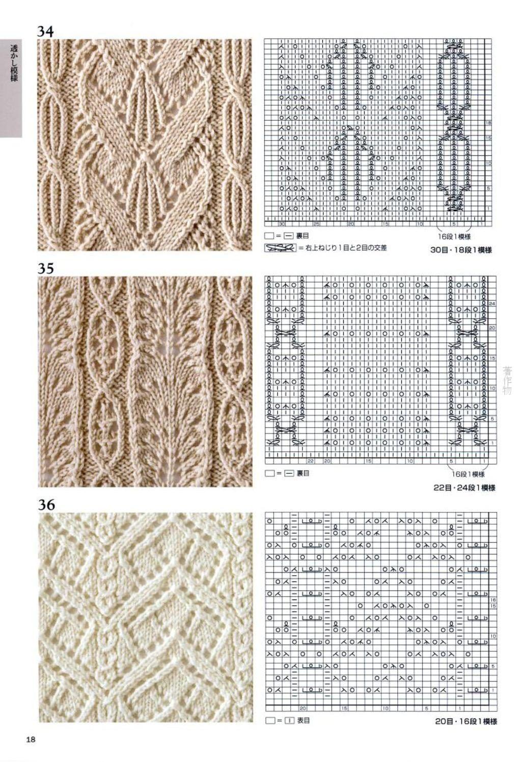 Ручное вязание схемы и узоры 814