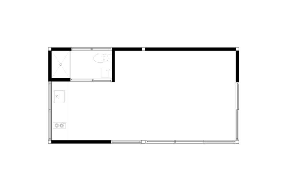 Kithaus K6 | 330 sf | Studio, 1 Bathroom, Kitchenette