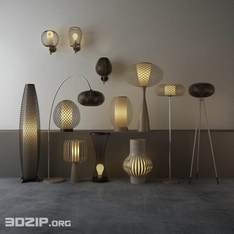 3d Light Model 20 Free Download 3d Light Light Floor Lamp