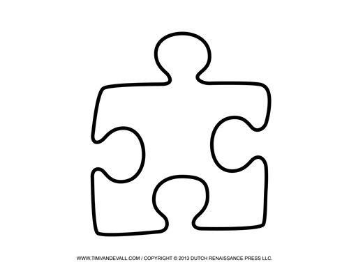 Jigsaw Puzzle Piece Template For Photo Booth