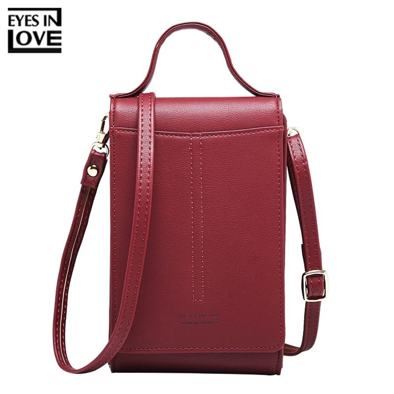 2018 Fashion Mini Crossbody Bags For Women Artificial Leather Small Female  Purse Cell Phone Coin Card Purses Ladies Shoulder Bag Review 5941313e12f9