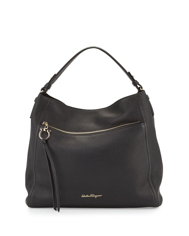 d09bce9182 Salvatore Ferragamo Ally Leather Hobo Bag