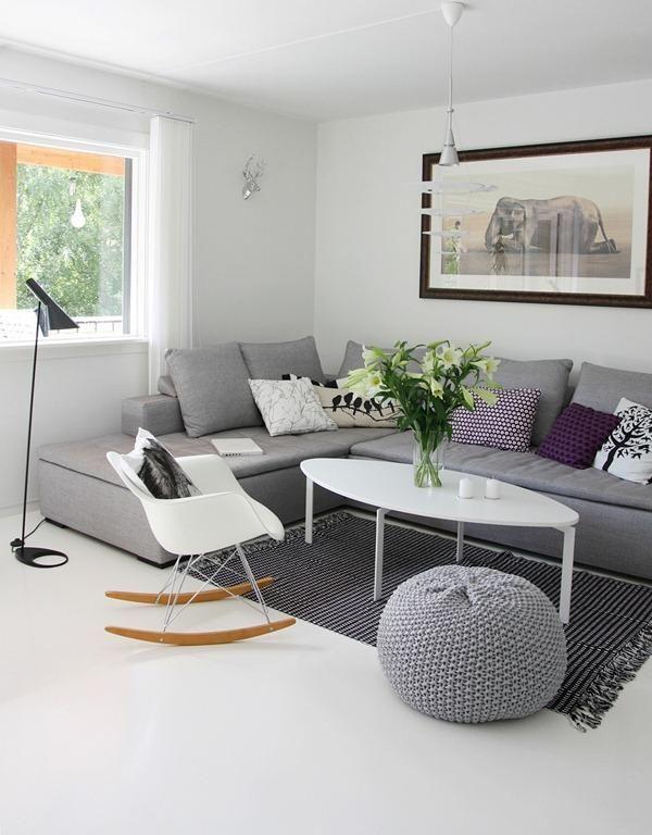 Sofa gris claro o gris oscuro decorar tu casa es - Cojines de salon ...