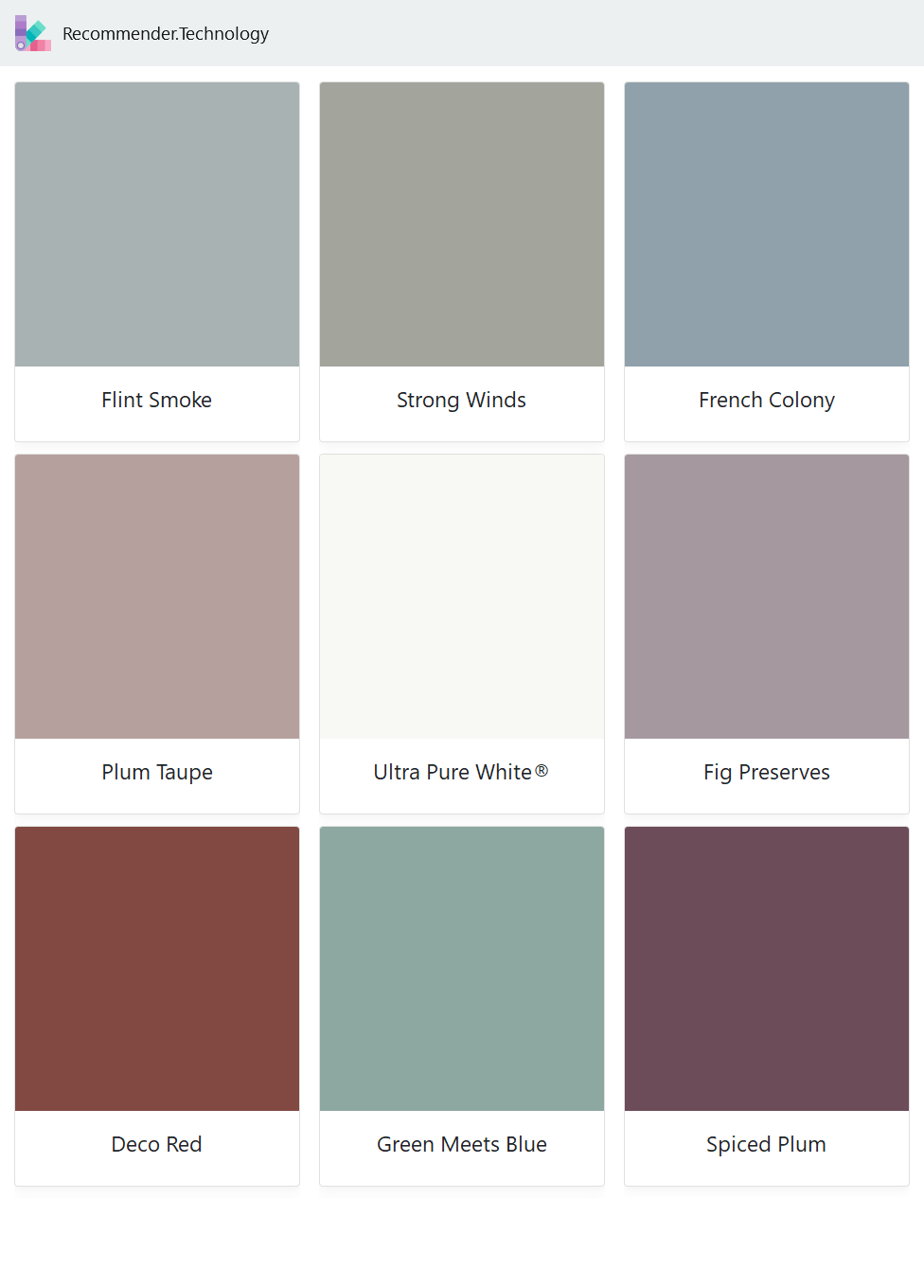 Flint Smoke Plum Taupe Deco Red Strong Winds Ultra Pure White Green Meets Blue French Colony Fig Pres Behr Paint Colors Paint Color Palettes Behr Paint