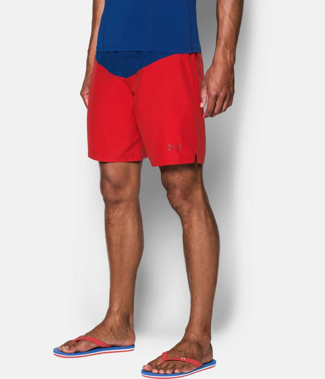 921196018f Men's Baywatch UA Boardshorts, Red, zoomed image | Back to the Beach ...