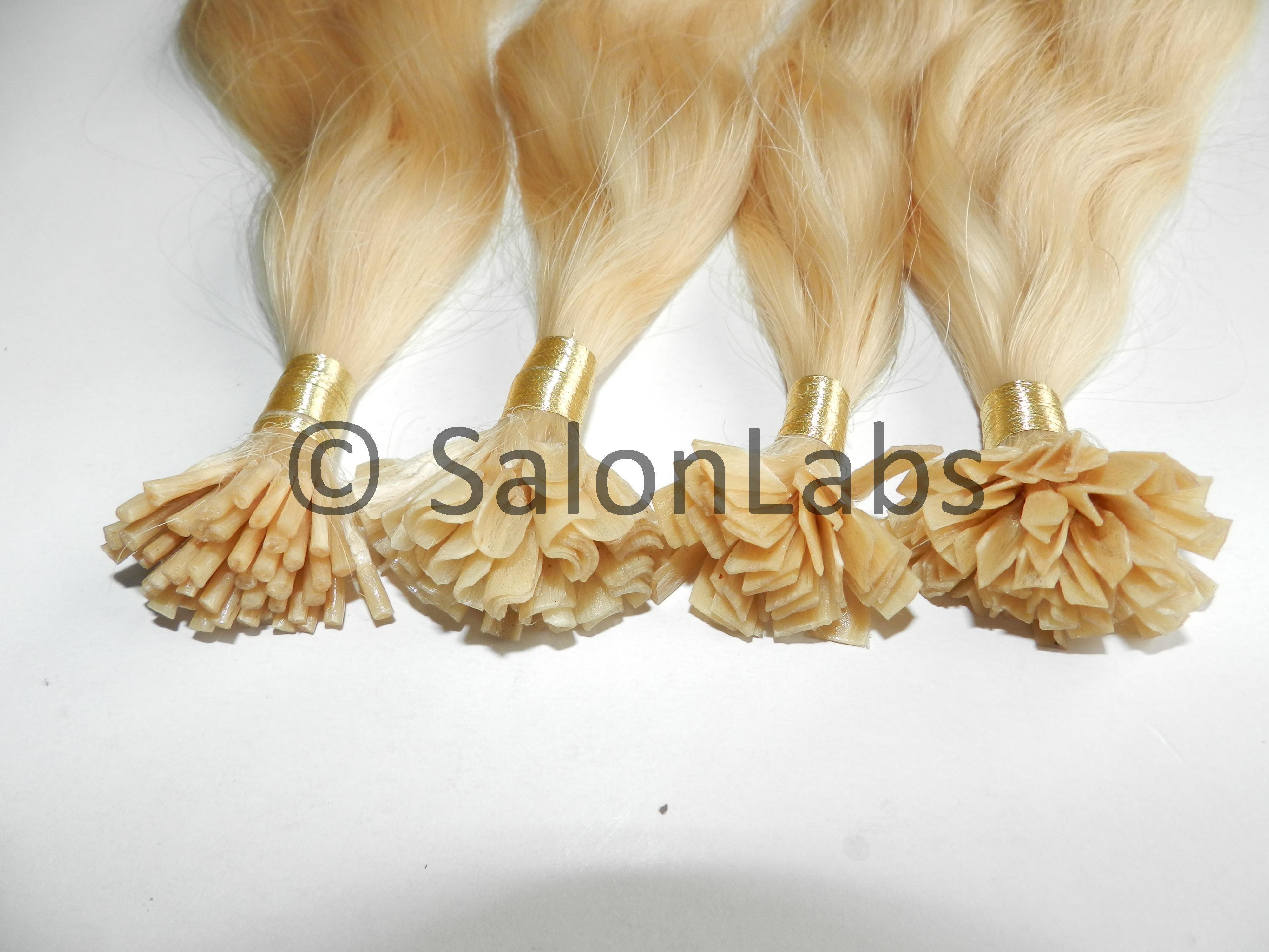 Pre Bonded Fusion Keratin Tips Hair Extensions I Tips U Tips V