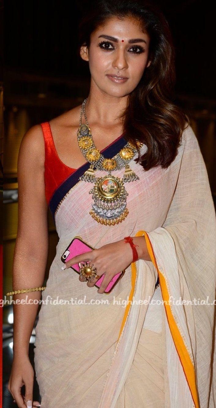 03bb2f76a7e75 Queen  Nayanthara  3 Beautiful Indian Sarees