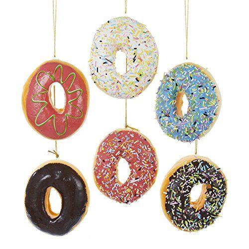 Donut Plastic Ornament Set Of 6 Donut Ornament Glass Ball Ornaments Ornament Set