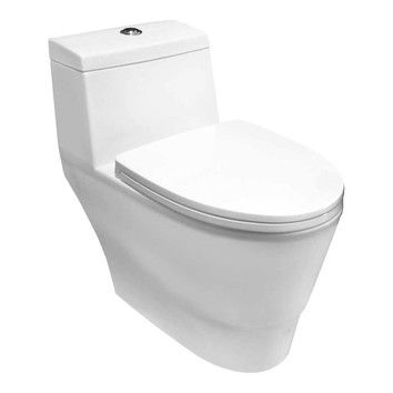1 6 Gpf Elongated One Piece Toilet Seat Included Modern Toilet