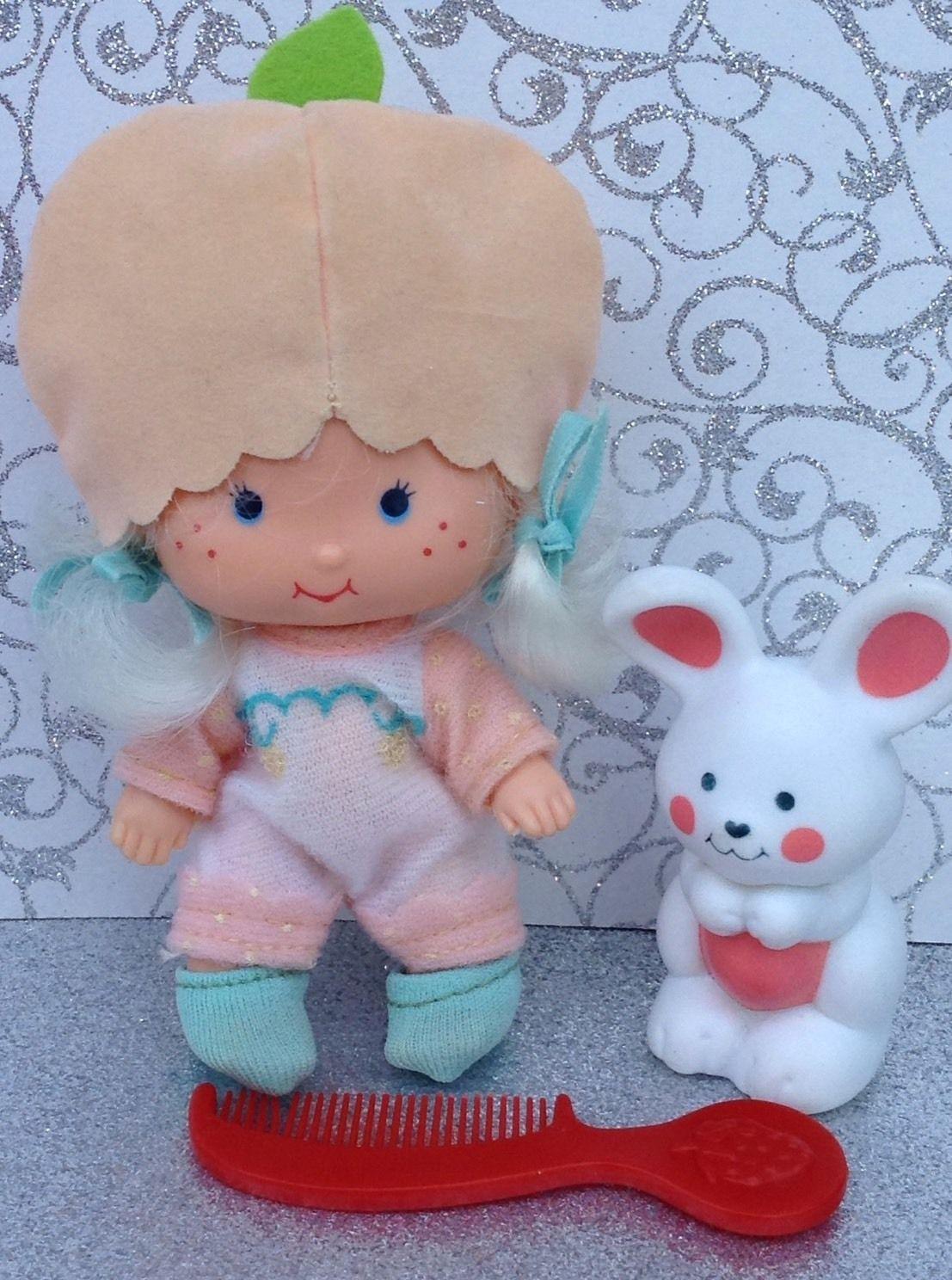 Vintage Strawberry Shortcake Doll Apricot with Pet Bunny Hopsalot ...