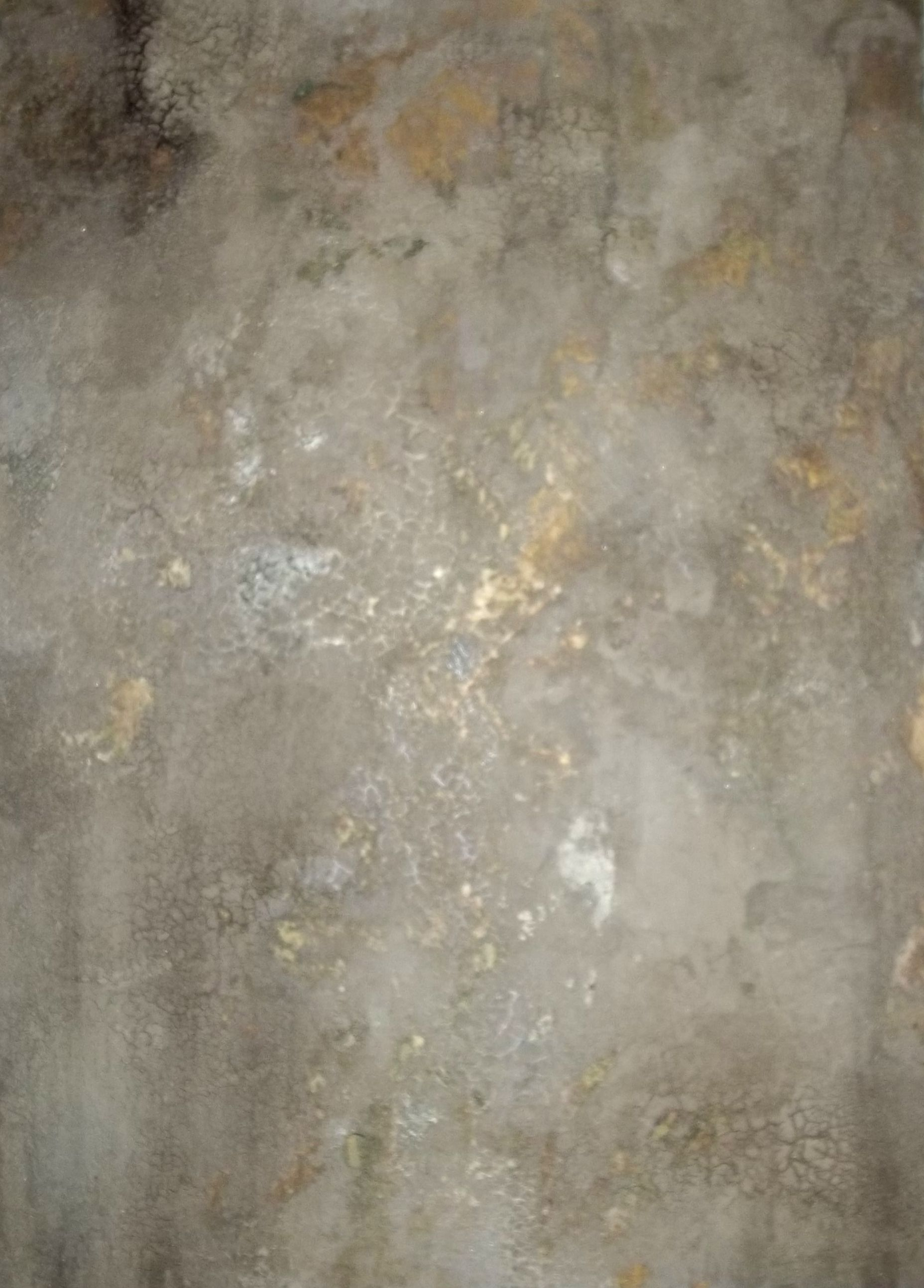 Crackled Plaster Over Gold Foil Faux And - Artistic Painting