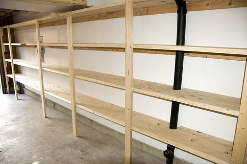 Garage Shelf Plans Free Shelf Plans Build A Simple Mission Style Garage Shelving Plans Garage Storage Shelves Garage Shelving