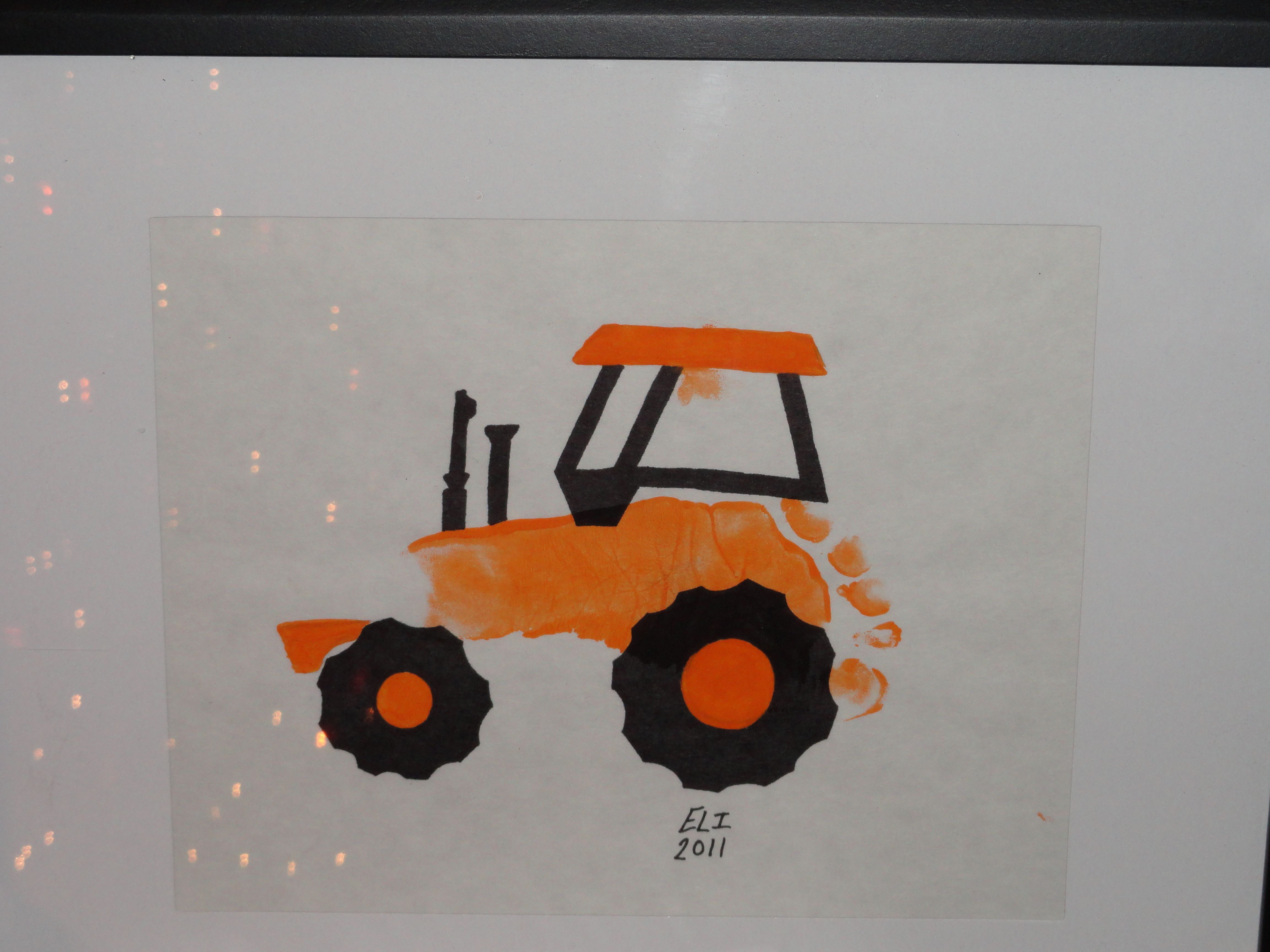 Allis Chalmers (Elis Hand Print) Tractor I Made For Christmas
