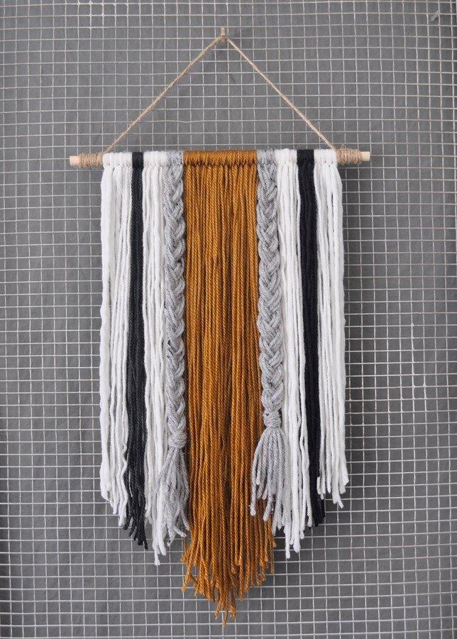 modern yarn wall hanging yarn wall art diy wall art on wall hangings id=42937