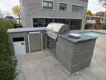 Plan de patio en pav unis recherche google chic d co - Plan de barbecue exterieur ...