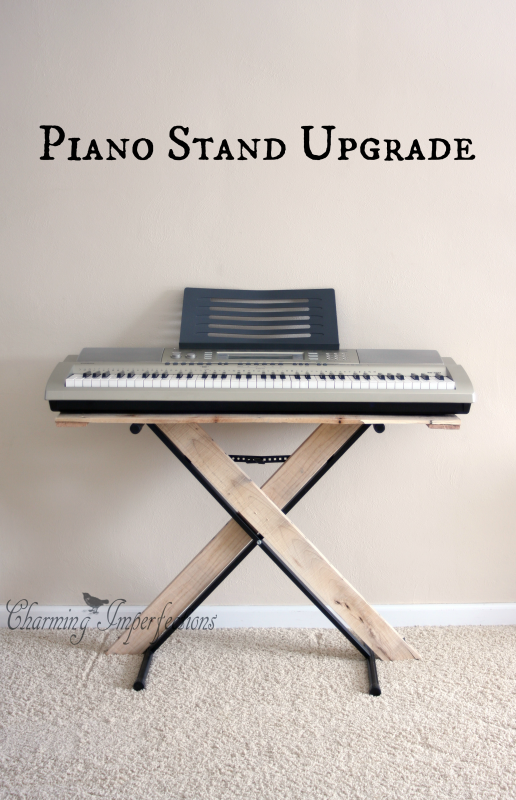 simple piano stand upgrade do it yourself today piano desk piano diy furniture. Black Bedroom Furniture Sets. Home Design Ideas