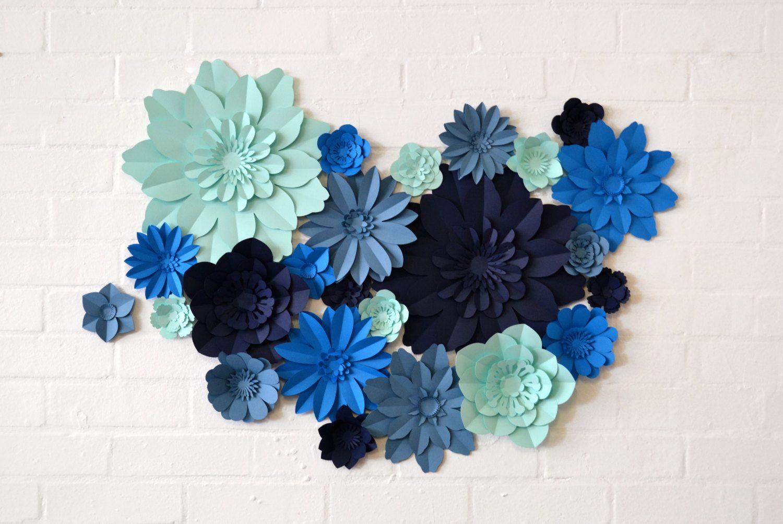 Hecho a mano color cuatro flores muro de pantalla por comeuppance