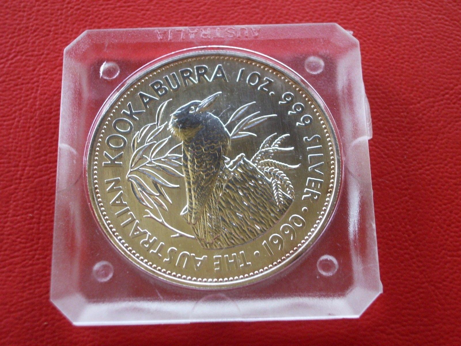 1 oz AG Australien Kookaburra 1990 in orig. Kapsel!sparen25.com , sparen25.de , sparen25.info