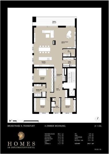 Der Rohbau Steht Bei Homes Im Diplomatenviertel Moderne 4 Zimmer Wohnung Mit Grossem Balkon Floor Plans Dream House House