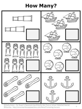 Columbus Day Teacherspayteachers Com Columbus Day Kindergarten Activities Kindergarten Math Review Worksheets