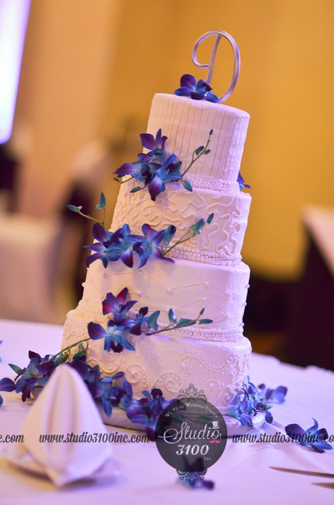 Wedding Cake Blue Purple Orchid