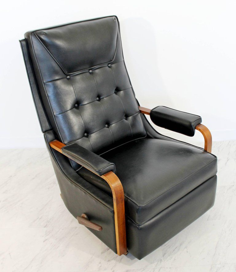For Your Consideration Is An Original Classic La Z Boy Reclining Rocking Chair Made Of Walnu Rocker Recliners Reclining Rocking Chair Dining Room Chairs Ikea