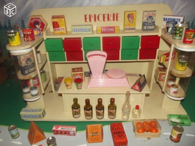 jouet ancien epicerie poupee annee 50