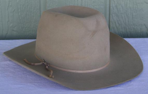 Vintage Cowboy Hat John B Stetson 3X Beaver Tan Size 6 7 8 JBS Rodeo ... b19509d31db