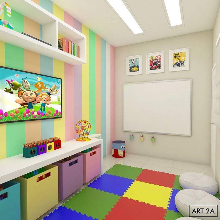 Sala Infantil Para Uma Igreja Muito Especial Art2a Arquitetura Infantil Love Photooftheday Brinquedoteca Moderna Decoração De Creche Salas Infantis