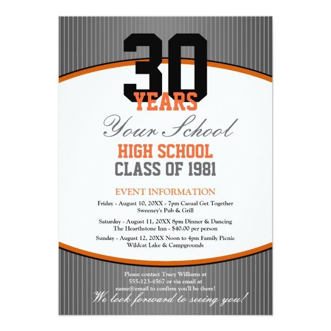 Customizable class reunion card class reunion invitations customizable class reunion 5x7 paper invitation card stopboris Gallery