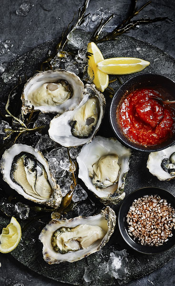 Start your Valentine's menu with chilled oysters and fizz. The creamy flavour of Pacific rock oysters is complemented perfectly with the mignonette and cocktail sauce.