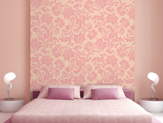 Self Adhesive Wallpaper Pink Vintage Quality Textured Wall Panels Room Wall Colors Wall Texture Design
