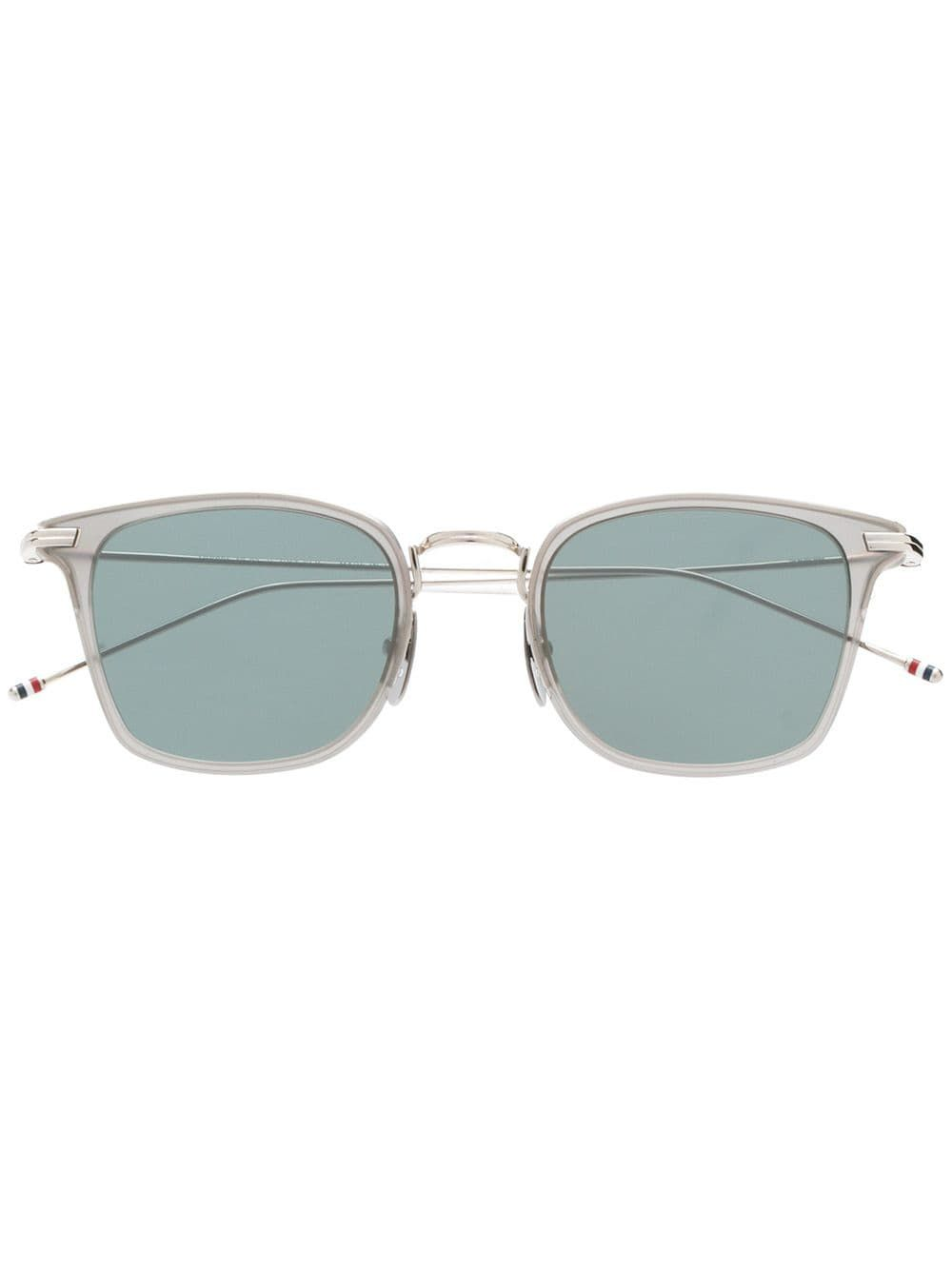 745a1aef1adf THOM BROWNE THOM BROWNE EYEWEAR SQUARE SHAPED SUNGLASSES - SILVER.   thombrowne