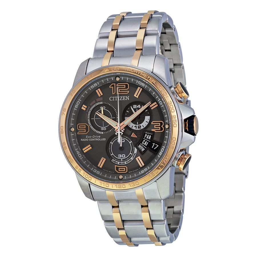 37806bc1a40 Citizen Chrono-Time A-T Eco-Drive Grey Dial Mens Watch BY0106-55H - Watch  Face - 1