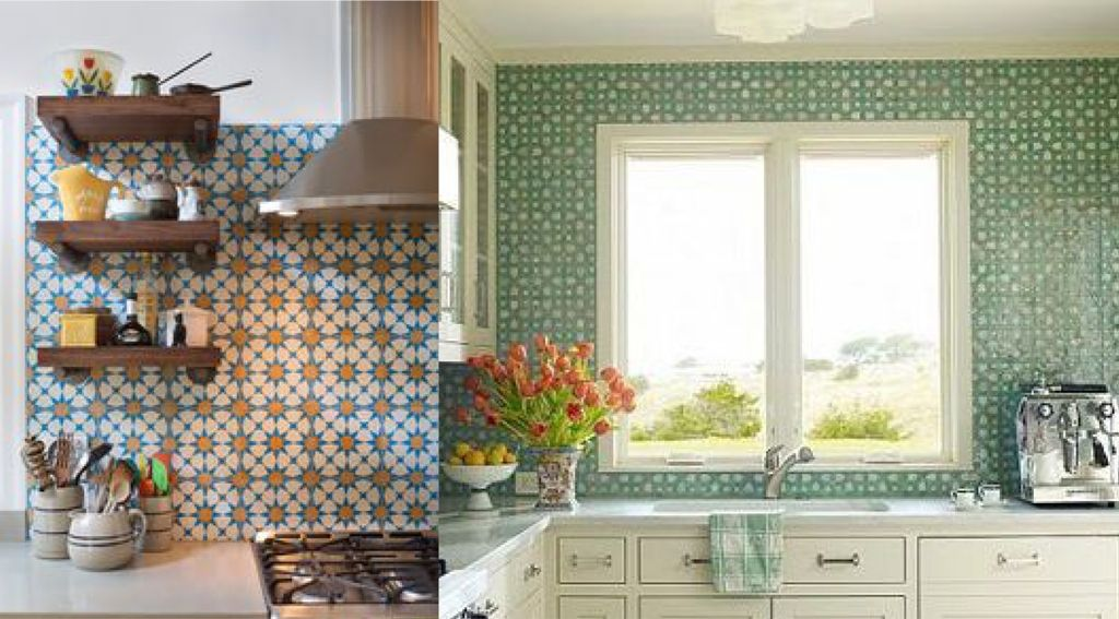 Vintage Cement Tile Kitchen Backsplash Installing Latest Ideas