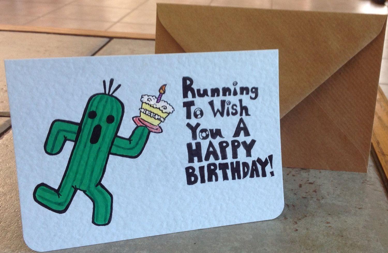 Final fantasy cactuar happy birthday card. $9.00 via etsy. bits