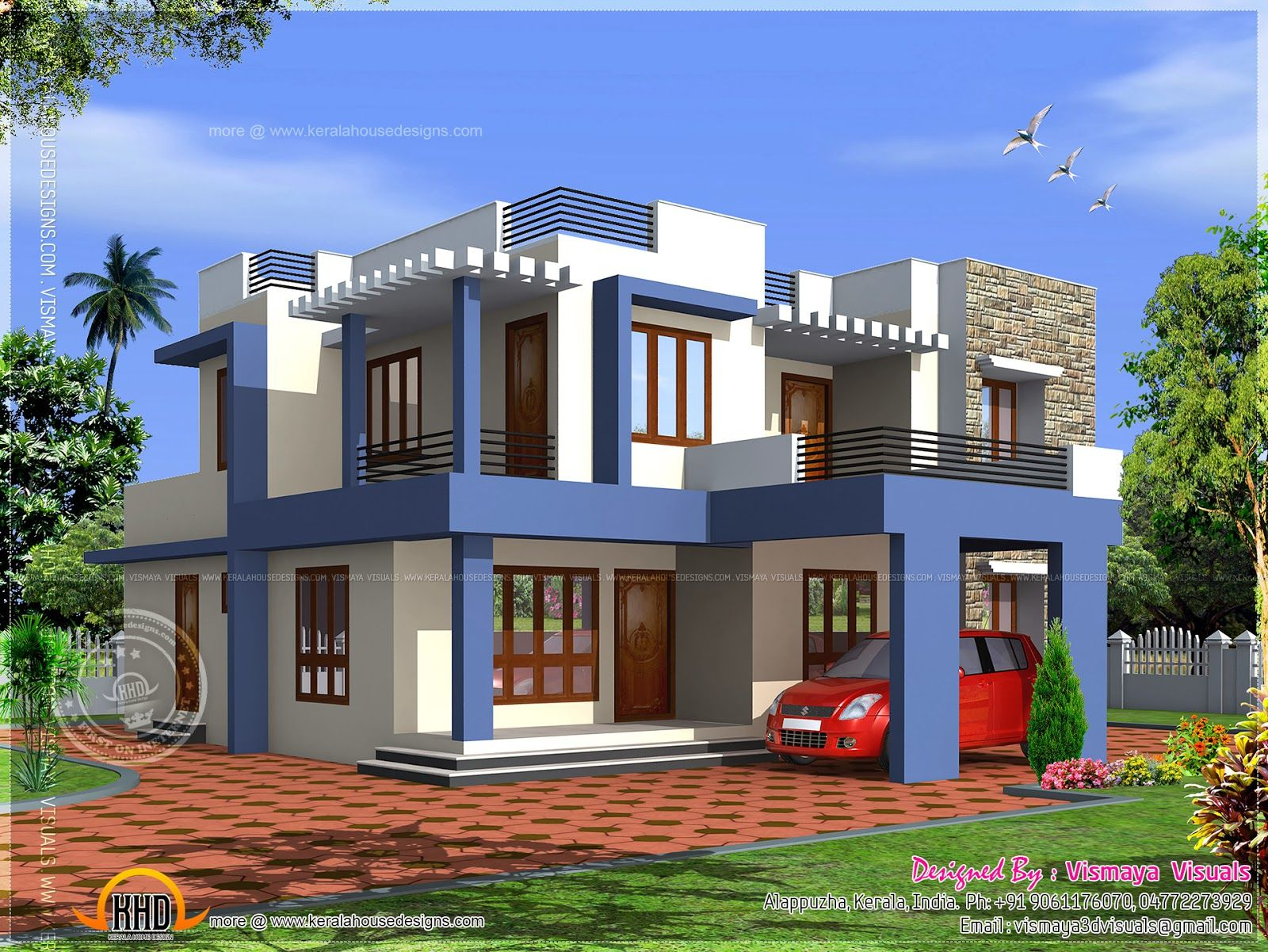 Contemporary Flat Roof House Designs Google Search Kerala House Design House Design Pictures House Architecture Design