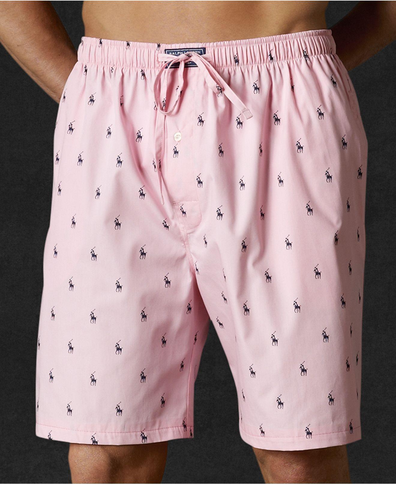 54a4c49fa Polo Ralph Lauren Sleepwear, Polo Player Shorts - Mens Pajamas & Robes -  Macy's