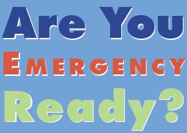 graphic stating Are you emergency ready?