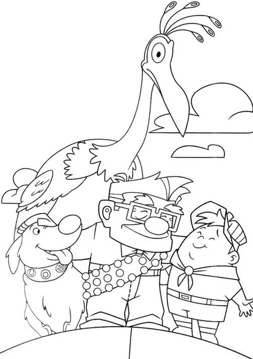 Free printable coloring pages graduation - Pixar Up Coloring Pages 02
