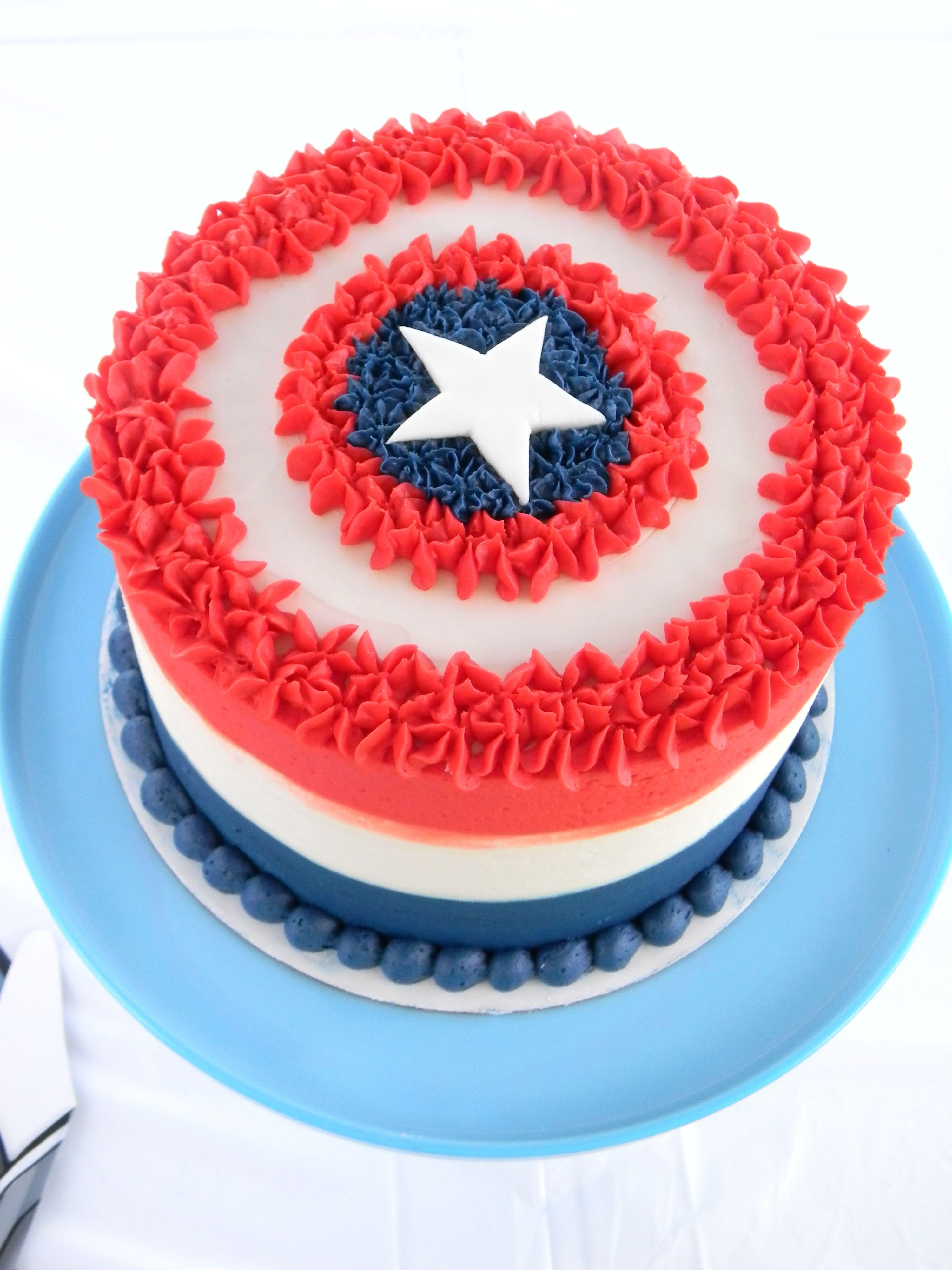 Captain America Butter Cream Cake So Fun For A Civil War