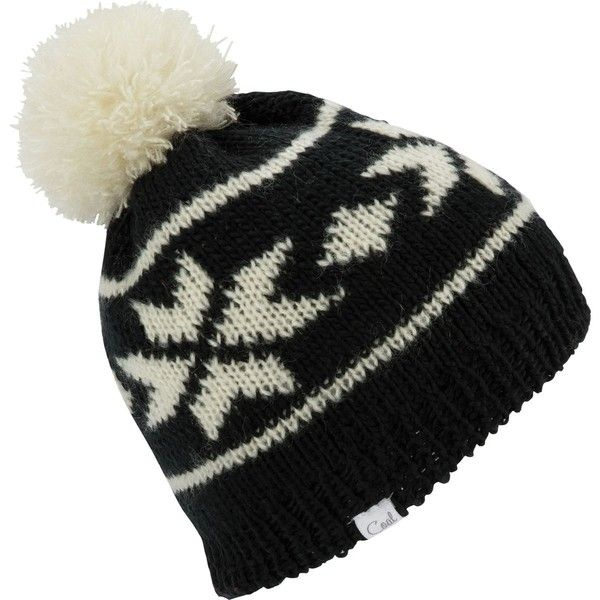Coal Britta Pom Beanie (€32) ❤ liked on Polyvore featuring accessories 95012f8ff2