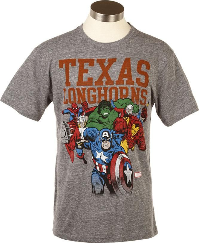 63e5938e6 Marvel Texas Longhorns Avengers Assemble T-Shirt