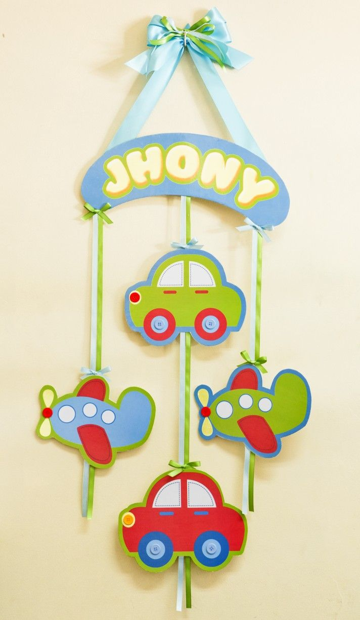 Adornos para puertas nacimiento de jhony baby shower for Dormitorio para colorear