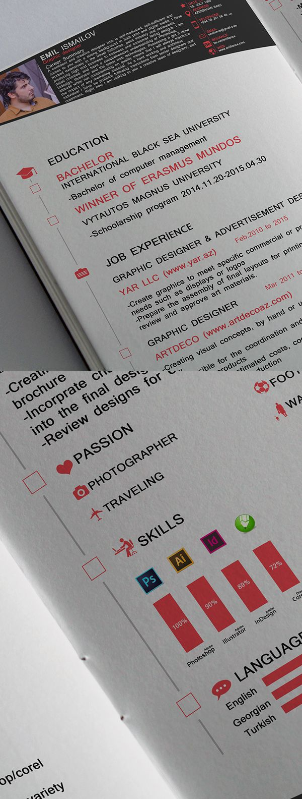 15 Free Professional CV/Resume and Cover Letter PSD Templates ...