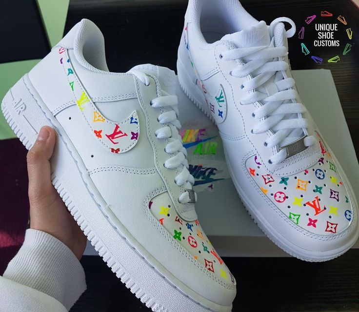 Nike Air Force 1 – Neon Rainbow Custom (Glow In The Dark) in ...