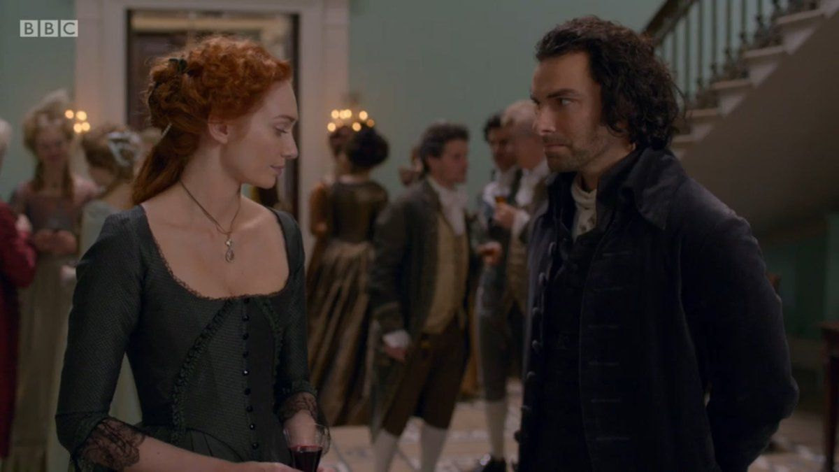 Ross and Demelza at The Basset Ball S3E2