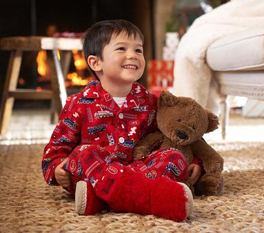 All Aboard Flannel Pajamas Potterybarnkids Baby Kids