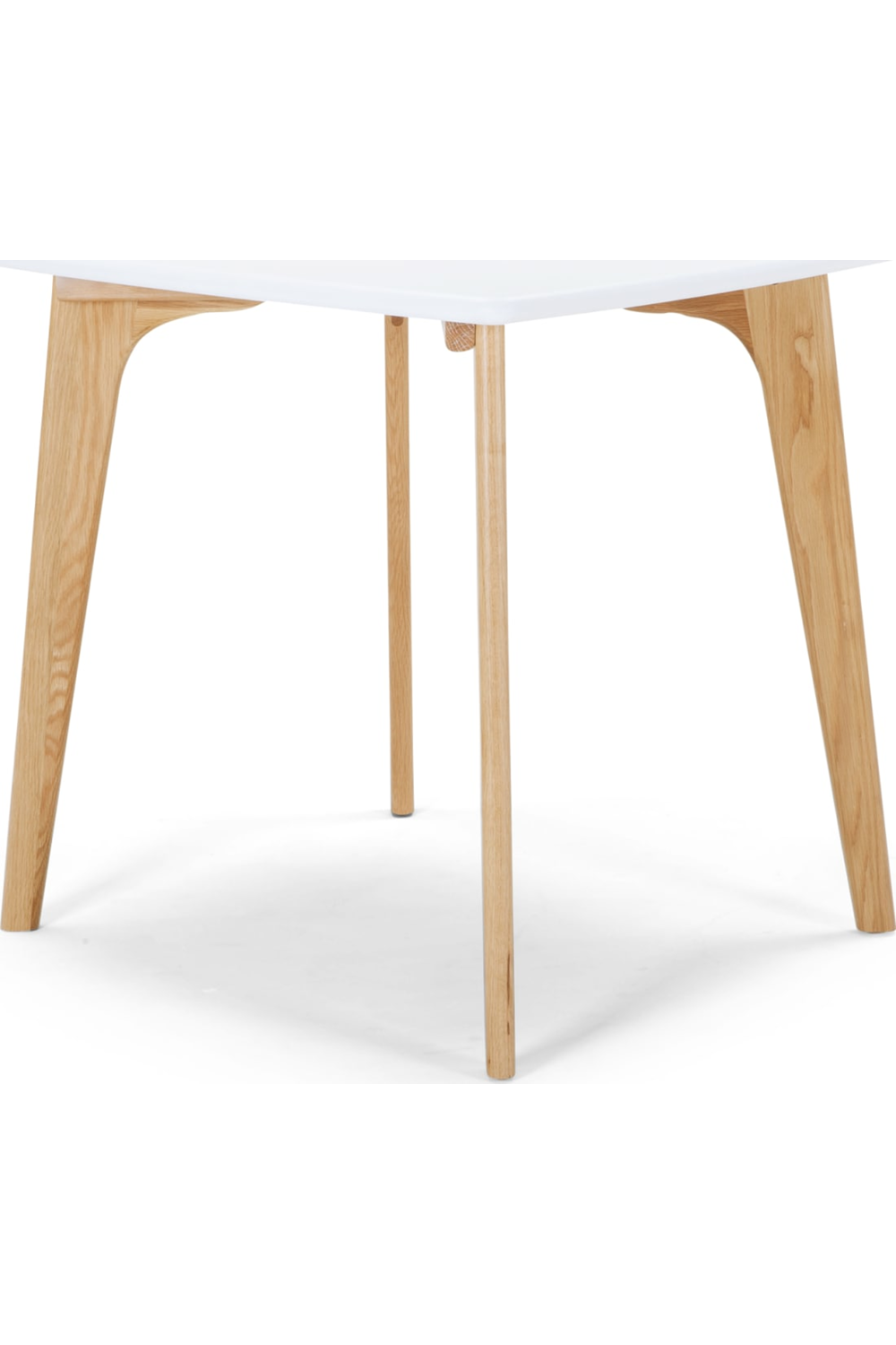 Fjord 4 Seat Square Compact Dining Table Oak And White Esstisch