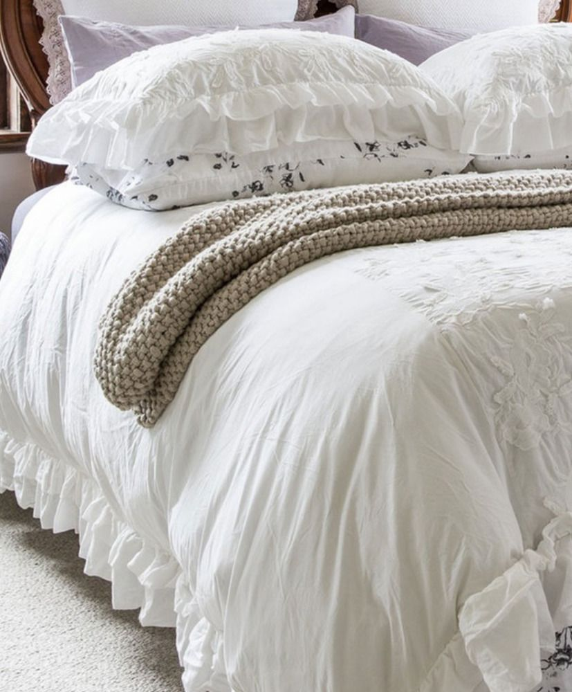 and quilt cover handcrafted white by black stripe ruffle bedding ticking striped duvet